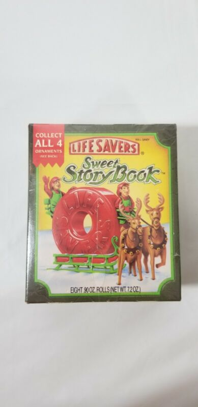Life Savers Sweet Story Book Christmas anniversary ornaments 1993 Clear