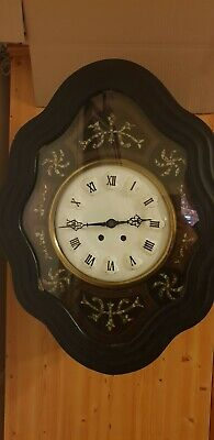 Antique french Oeil de Boef wall clock 1855