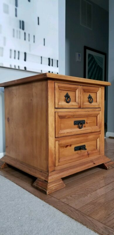 Hand Made Real Wood Amish End Console Table Dresser Drawer Night Stand