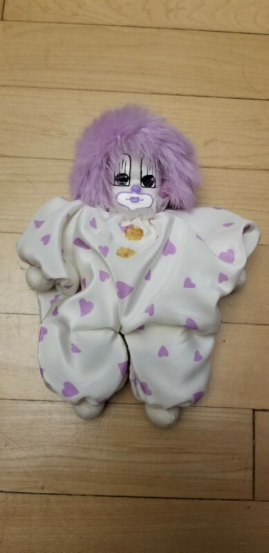 Vintage Q-Tee Clown hand painted/ hand made