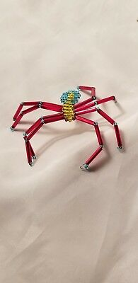 Spider Pin Brooch Jewelry Red Bug Arachnid New Costume Jewel Turquoise Gold Legs (Jewel Spider)