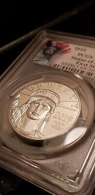 2019 Statue of Liberty First Strike Platinum Eagle 1 ounce oz. MS69.  PCGS Cert