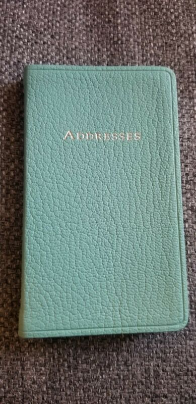 "Tiffany & Co. 5.5"" by 3.5"" Leather Address Book"