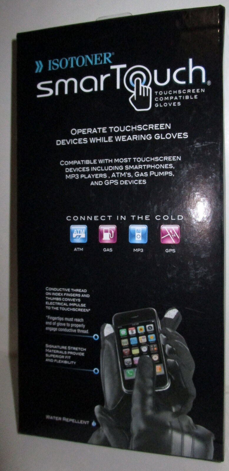 Mens gloves for smartphones - New With Tag Isotoner Mens Smart Touch Black Gloves Md New