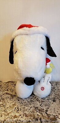 Peanuts Gemmy Snoopy Woodstock Musical Christmas Plush Charlie Brown Theme ()