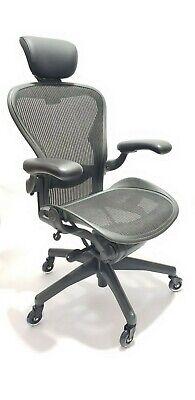Herman Miller Aeron Chair Headrest Size B All Features Adjustable Lumbar