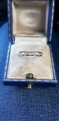 Diamond Eternity Ring In Hallmarked White Gold...very Pretty!