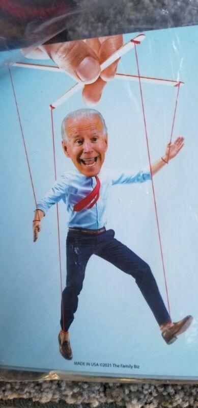 """""""President Biden On Puppet Strings"""" Magnet 3""""x5""""."""