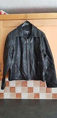 KENNETH COLE 'Reaction' Men's Faux-Leather Moto Biker Jacket MEDIUM - Used Look
