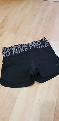 Nike Pro Black Workout Shorts Hotpants M
