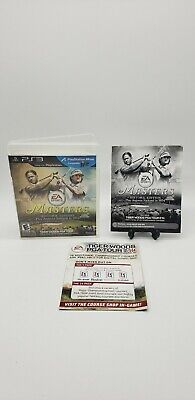 PS3 Tiger Woods PGA Tour 14 Masters Historic Edition -Case & Manual Only No DISC