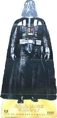 Vintage 1997 Star Wars Darth Vader Life Size Cardboard Stand Up Display Trilogy ()