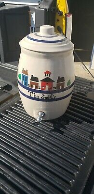 """Stoneware Water Cooler 15"""" Robinson Ransbottom Company RRP CO. Roseville Ohio"""