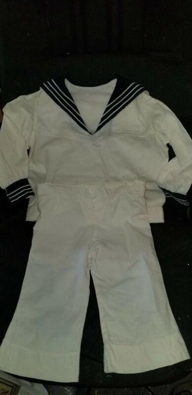 ANTIQUE VICTORIAN WOOL AND COTTON CHILD