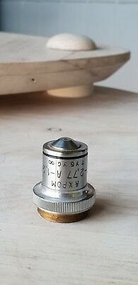 Soviet Vintage Objective Lens Ahrom F-2.79 A-1.30 For Microscope Lomo Zeiss