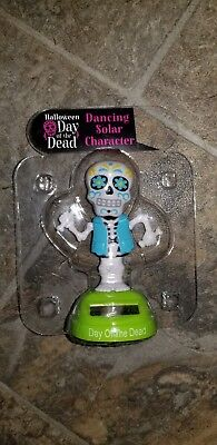 New Halloween Day of The Dead Blue Skeleton Man Solar Dancing Character ](Halloween Dancing Characters)