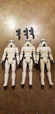 VIntage Star Wars 1977 Storm Trooper Action Figure LOT OF 3