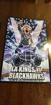2018-19 LOS ANGELES KINGS CHICAGO BLACKHAWKS BAILEY BIRTHDAY POSTER 3/2/19 - Blackhawks Birthday