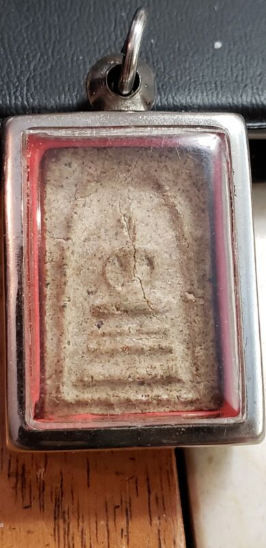 ANTIQUE SOMDEJ BUDDHIST THAILAND TEMPLE AMULET