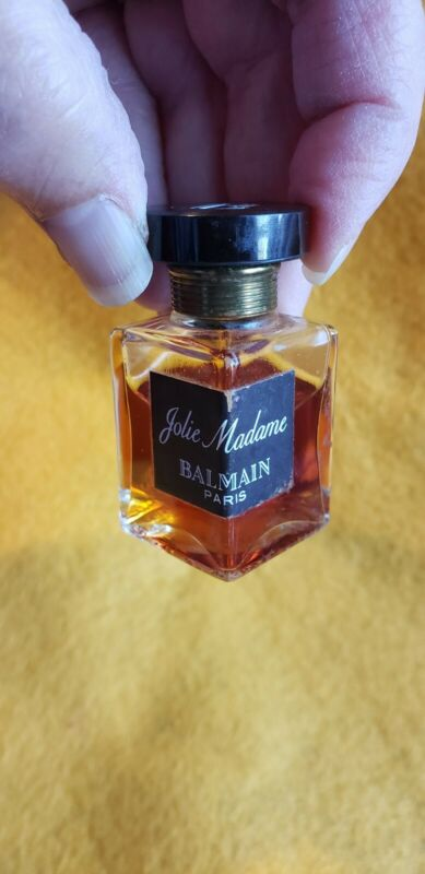 Vintage Balmain JOLIE MADAME Perfume 1/4 Oz 75% full