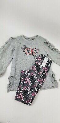 NWT Calvin Klein Girls Size 6 Ck Winter Set Legging Sweater Kids Cute School