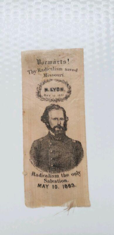 1863 Civil War Gen Nathaniel Lyon Ribbon