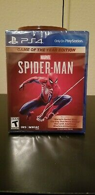 Marvel Spider-Man Game Of The Year Edition Ps4 Same day Shipping read Below