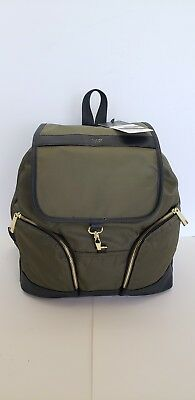 NWT Tutilo Tech Backpack Laptop Tablet Portable Charger Olive - MSRP $158