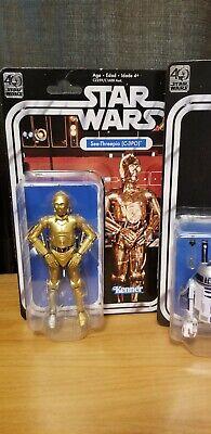 Star Wars Black Series 40th Anniversary C3PO And R2D2