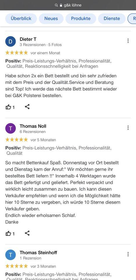 Boxspringbett NADIN 180x200 cm in allen Farben DIREKT AB FABRIK!! in Nordrhein-Westfalen - Löhne
