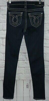 BIG STAR Maddie Skinny Dark Wash 26 x 32L Stretch Jean Silver Metallic Stitched
