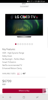"""LG 65"""" OLED TV and Samsung Dolby Atmos Surround Sound System"""