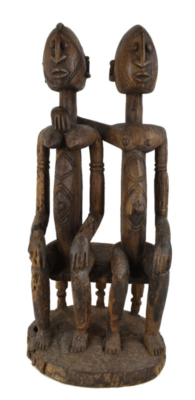 Dogon Primordial Couple Figure Mali African Art