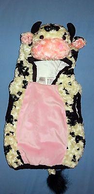 PLUSH COW COSTUME; child's sz 2-24 mo ;hooded vest/head-farm animal;Dress Up EUC](Childs Cow Costume)