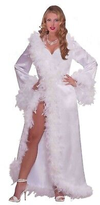 age Hollywood Marabou Satin Robe Halloween Kostüm 67967 (Vintage Hollywood Kostüm)