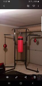 Multi station boxing stand with power tower