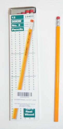 Dixon #2 HB Soft Lead Wooden Pencils with Eraser QTY 576