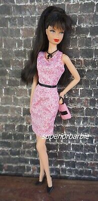 BARBIE FASHIONS SPRING ZING Floral Halter Dress and Accessories