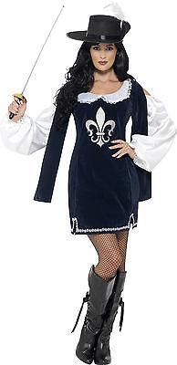 Lady Arina Musketier Kostüm für Damen (Musketiere Kostüm Für Damen)