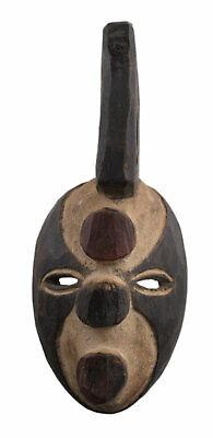 Masquette Grebo Mask Liberia African Wood 19 cm Pasport Art Diminutive 16916