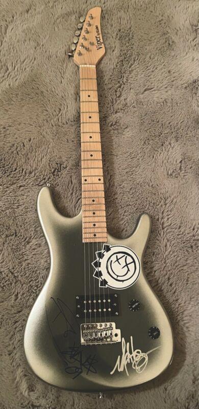 Blink 182 Autographed Signed Guitar Mark Tom DeLonge Travis Barker ACOA LOA RACC