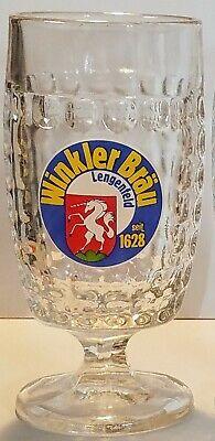 Winkler Brau Lengenfeld .5 Liter Stemmed Thumbprint Glass 7 3/4