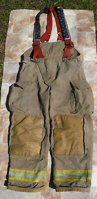 2002 Chieftain 3200x Firefighter Turnout Gear Apparel Pants Lg Liner Suspenders