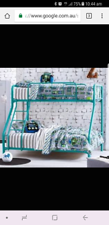 White double / single bunk bed