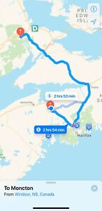 Windsor to Moncton/Fredericton September 21