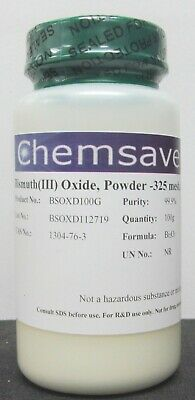 Bismuthiii Oxide Powder -325 Mesh 99.9 Metals Basis 100g