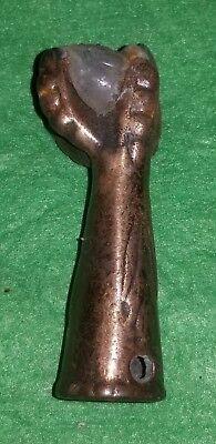 Vintage Antique Table Foot Weathervane Lightning Bolt Rod Top Bird Claw Copper