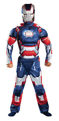 Iron Patriot Classic Muscle Child Costume Avengers Jumpsuit Halloween Disguise