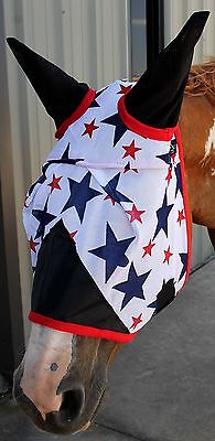 Equine Horse Fly Mask Summer Spring Airflow Mesh UV Mosquitoes  73257