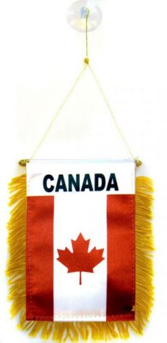 Canada Canadian Flag Hanging Car Pennant for Car Window or Rearview Mirror